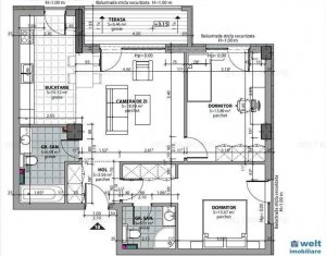 Appartement 3 chambres à vendre dans Cluj Napoca, zone Dambul Rotund