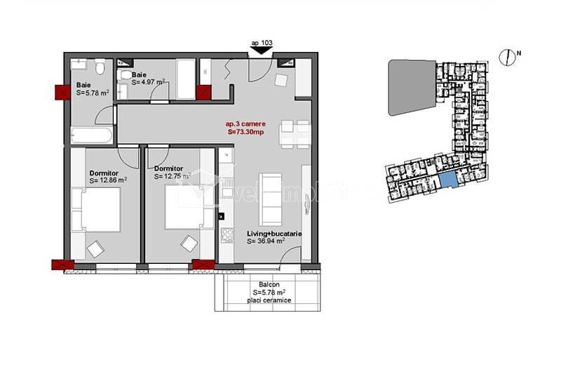 Constructie noua, cu  2 si 3 camere, zona Piata Mihai Viteazu!