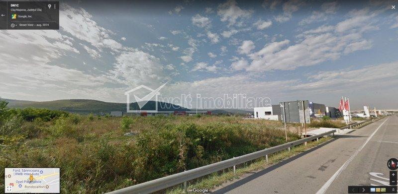 Teren industrial aeroport toate utilitatile, front la sosea 110m, zona Opel