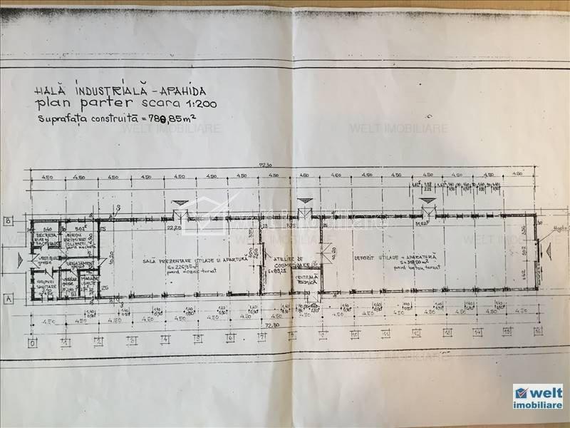 Vanzare 4500mp teren, 2 hale 1400mp, utilitati, centura Bd Muncii - Apahida