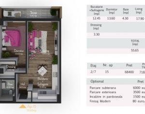 Apartament de vanzare, 2 camere, 55 mp, Zorilor, zona Calea Turzii