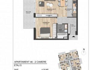Apartament 2 camere, proiect nou Marasti