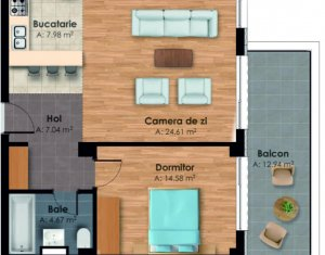 Apartment 2 rooms for sale in Cluj-napoca, zone Gara