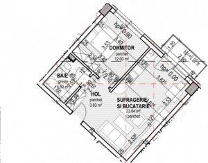 Vindem apartament cu 2 camere, semidecomandat, 43 mp, zona Lidl Baciu.