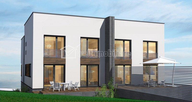 Casa tip duplex de vanzare in Buna-Ziua, strada privata, teren 320 mp