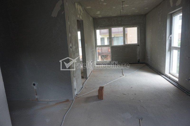 Vanzare apartament cu 2 camere, semifinisat, constructie 2018, Floresti