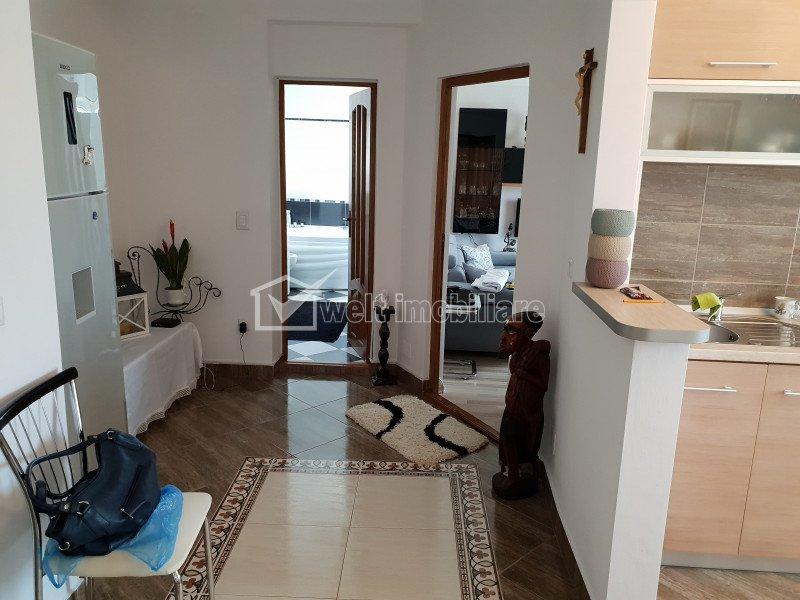 Apartament 2 camere, 53 mp, finisaje de lux, parcare, etaj intermediar, Apahida