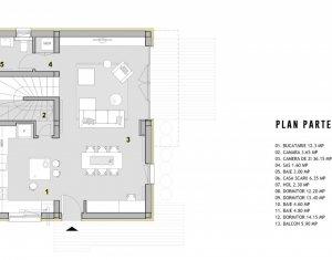 Casa tip duplex noua, 4 camere, semifinisata, 120mp, aproape de Cluj