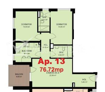 Apartament 3 camere, bloc nou, zona Grand Hotel Italia