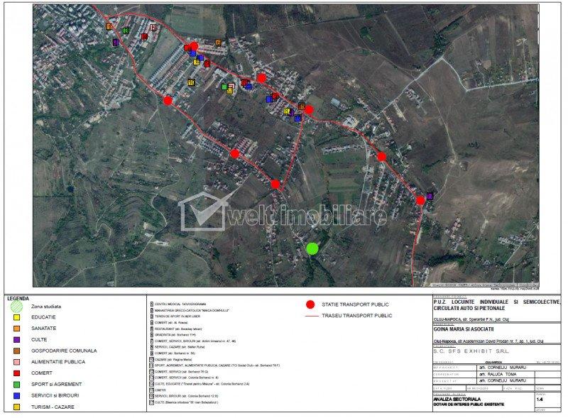 Teren de vanzare in Borhanci, PUZ,  381 mp, 200 Euro/mp