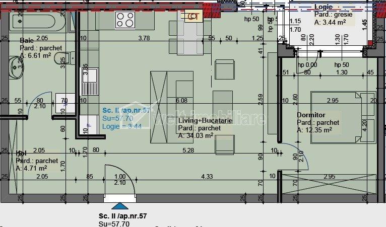 Proiect nou, apartament de 2 camere, langa Parcul Central si Cluj Arena