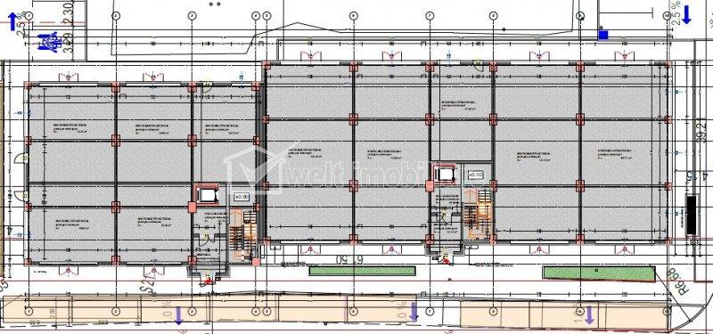 Vanzare spatiu comercial 570mp open space ideal comert retail zona Ira