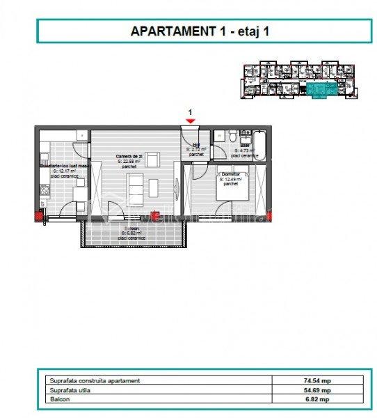 Vanzare apartament 2 camere, situat in Floresti, zona Cetatii