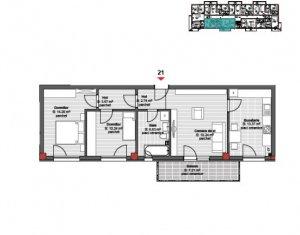 Vanzare apartament 3 camere, finisat, situat in Floresti, zona Cetatii