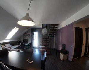 Apartament de lux, 2 camere, scara interioara, mobilat, utilat, Manastur