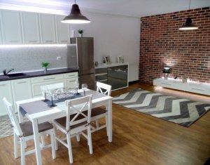 Vindem 2 camere, mobilat lux, totul nou, zona Dumitru Mocanu, Floresti