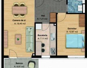 Apartament 2 camere, bloc nou, 62 mp, et. intermediar, cartier Buna Ziua
