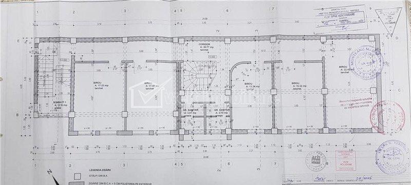 Vanzare spatiu birouri 500 mp pe 3 niveluri, cartier Iris