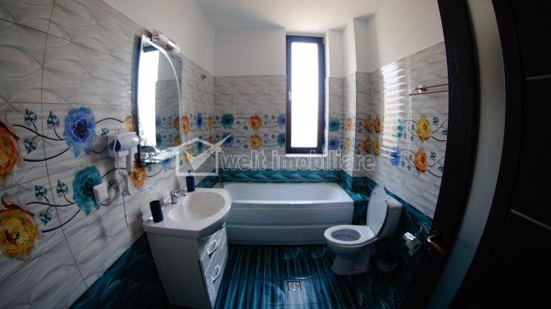 Apartament 3 camere, bloc nou, finisat, terasa 35 mp, mobilat, zona Autogara