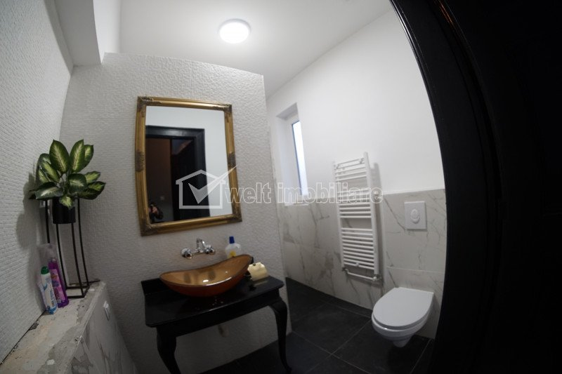 Apartament cu 3 camere, in vila, ultrafinisat, mobilat, zona The Office, BRD