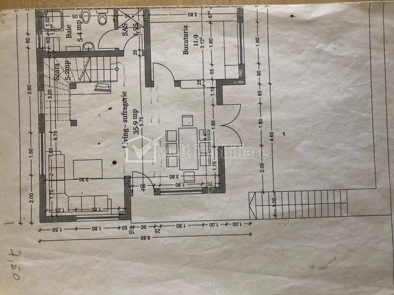 Duplex de inchiriat, 140 mp, nemobilat, strada Narciselor