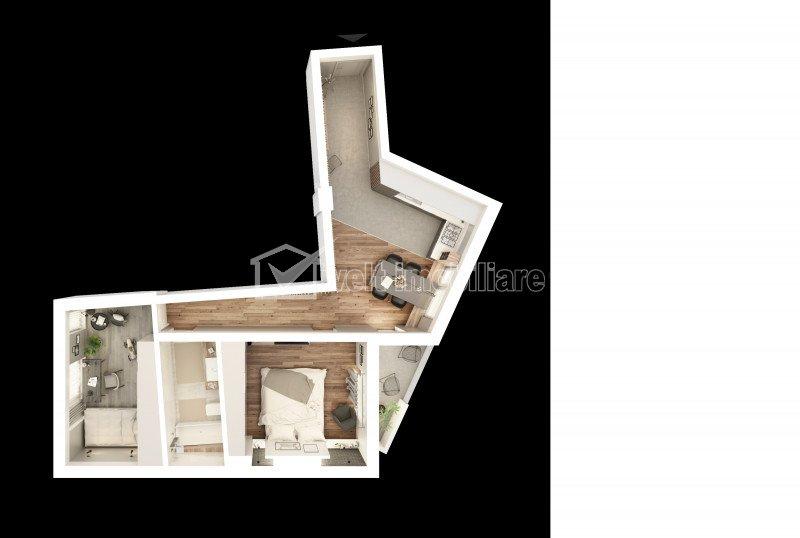 Apartament 2 camere, 61,70mp utili, ultracentral, zona Podul Traian