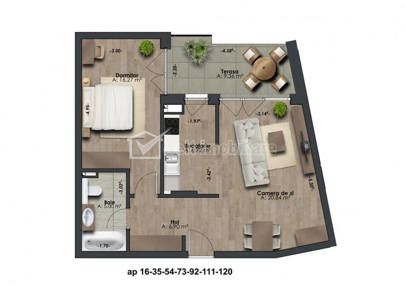 Apartamente de 2 camere situate in imobil nou exclusivist, zona The Office