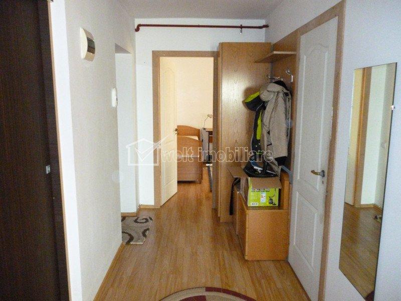 Apartament 3 camere, finisat si mobilat, etaj intermediar, Baciu, zona Primariei