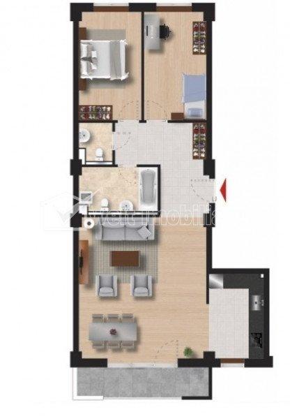 Apartament 3 camere, imobil nou, ultrafinisat, mobilat, Iulius Mall