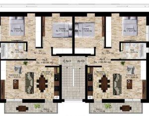 Vanzare apartamente de 3 camere, constructie tip vila, Manastur, Campului