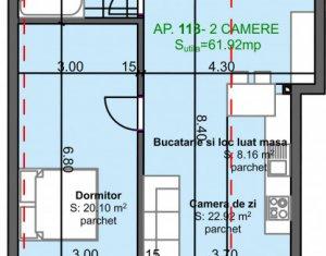 Apartment 2 rooms for sale in Cluj Napoca, zone Marasti