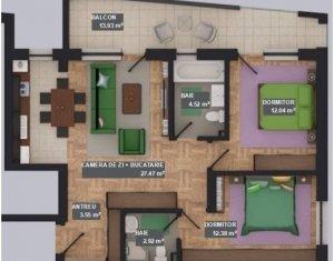 Apartament 3 camere, zona bancii Reiffaisen, Floresti