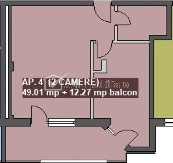 Apartament 2 camere, zona bancii Reiffaisen, Floresti