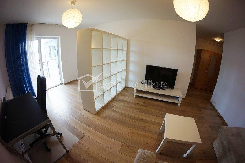 Apartament 1 camera, 43 mp, mobilat lux, Platinia Dorobantilor, zona centrala