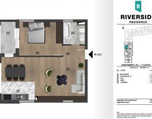 Apartament 2 camere, 56 mp, semifinisat, zona Clujana