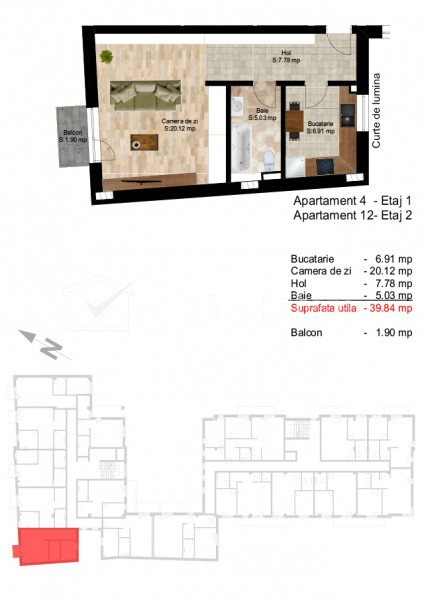 Apartament 1 camera, zona Piata Cipariu