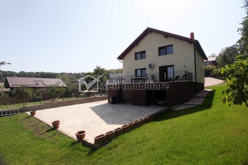 Vila cu 7 camere, 1013 mp teren, superfinisata, zona de padure, Faget
