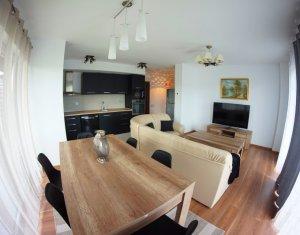 Apartament cu 3 camere, lux, prima inchiriere, 75 mp, parcare subterana, Sopor