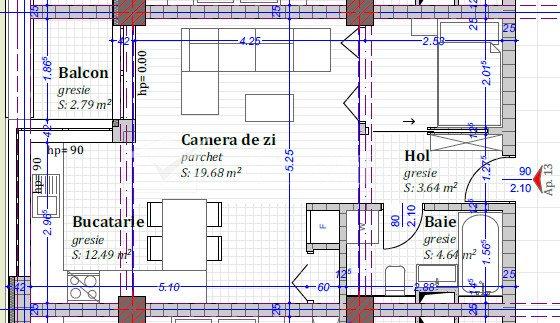 Vanzare apartament de 1 camera, Calea Baciului, proiect nou
