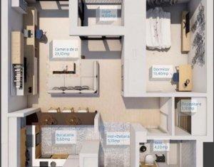 Vand apartament cu 2 camere semifinisat, zona Buna Ziua