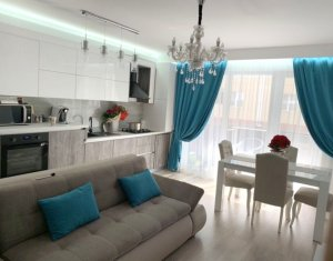 Vanzare apartament 3 camere ultrafinisat, mobilat si utilat, parcare subterana
