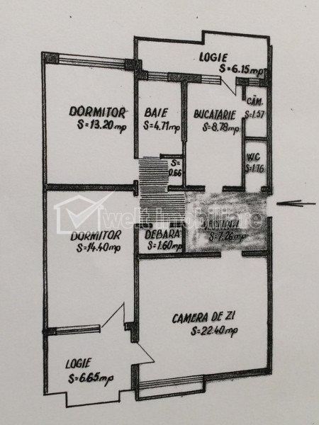 Inchiriere 3 camere, Gheorgheni, etajul 1, garaj, zona Titulescu