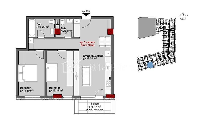 Vanzare apartamente in constructie noua, 3 camere, zona centru Cluj Napoca