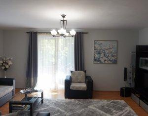 Apartament cu 3 camere, Manastur, bloc nou, mobilat, utilat 86 mp, etaj 1, garaj