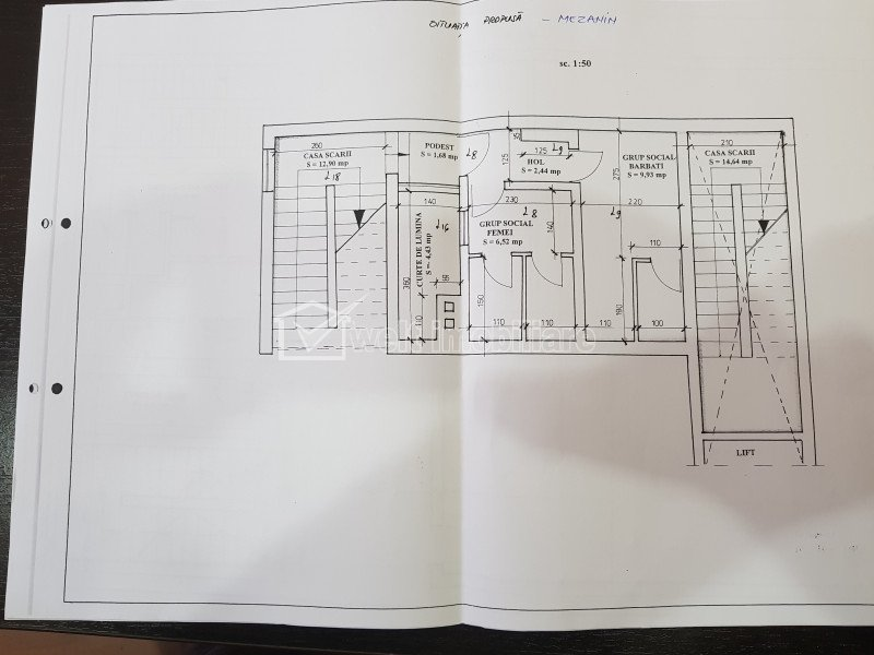 Cladire 988 mp, spatiu comercial in CF, zona semicentrala