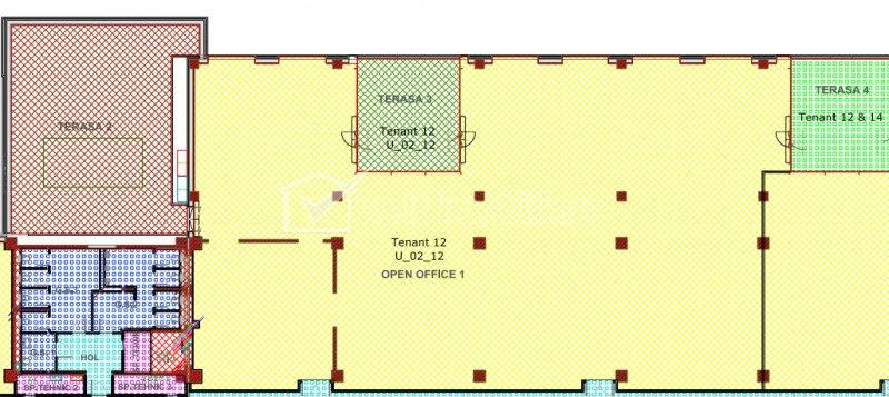 Spatiu de birou 985 mp utili, Clasa A, Calea Turzii, servicii administrative