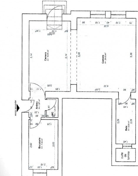 Spatiu comercial SU 62mp ,Centru,  VAD comercial,