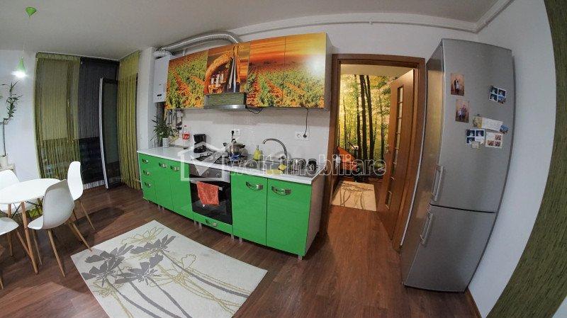 Apartament cu 2 camere, utilat si mobilat complet, constructie noua