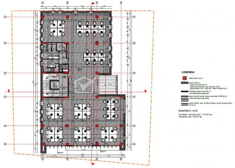 Cladire birouri, zona exceptionala, clasa A