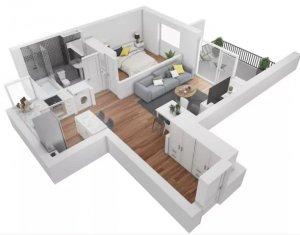 Apartament de vanzare, 2 camere, 44 mp, Buna Ziua, zona Grand Hotel